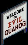 Welcome to Evil Quahog Sign