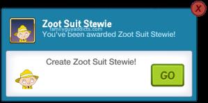 Zoot Suit Stewie Awarded Pop Up