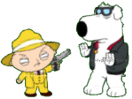 Zoot Suit Stewie Hold Up Brian