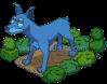 Blue Doberman Statue