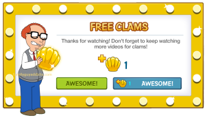 Mort Free Clams Watch Ad