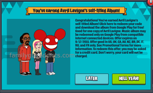 You Earned Avril Lavigne Album