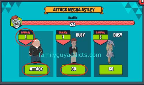 Attack Mecha Astley Characters 1X