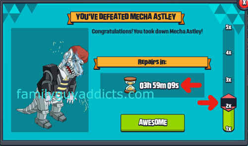 You've Defeated Mecha Astley