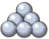6 Silver Cannon Balls