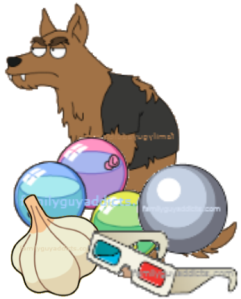 Werewolves garlic cannonball balloon glasses
