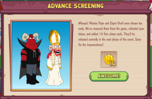 Pope and Devil Oops Pop up