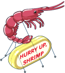 Balloon Hurry Up Shrimp
