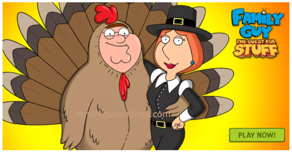 Family Guy Game Thanksgiving Promo