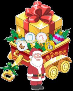 Santa Claus & Gold Gift Box