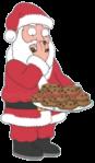 Santa Claus Gorge on Cookies