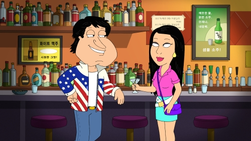 FAMILY GUY: The guys travel to Korea and Quagmire is reunited with his old lover (guest-voice Margaret Cho) in the all-new ÒCandy, Quahog MarshmallowÓ episode of FAMILY GUY airing Sunday, Jan. 3 (9:00-9:30 PM ET/PT) on FOX. FAMILY GUY ª and © 2016 TCFFC ALL RIGHTS RESERVED.