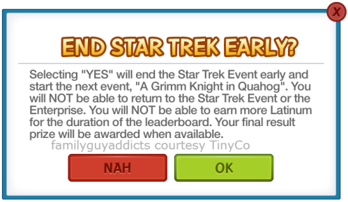 Star Trek End Early Opt Out