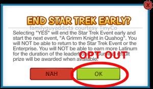 Star Trek Opt Out