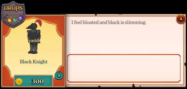 Black Knight Menu