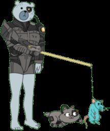 Borg Human Rupert Play With Borg Kitten