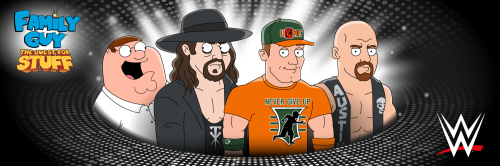 Family Guy- The Quest for Stuff - WrestleMania in Quahog Key Art