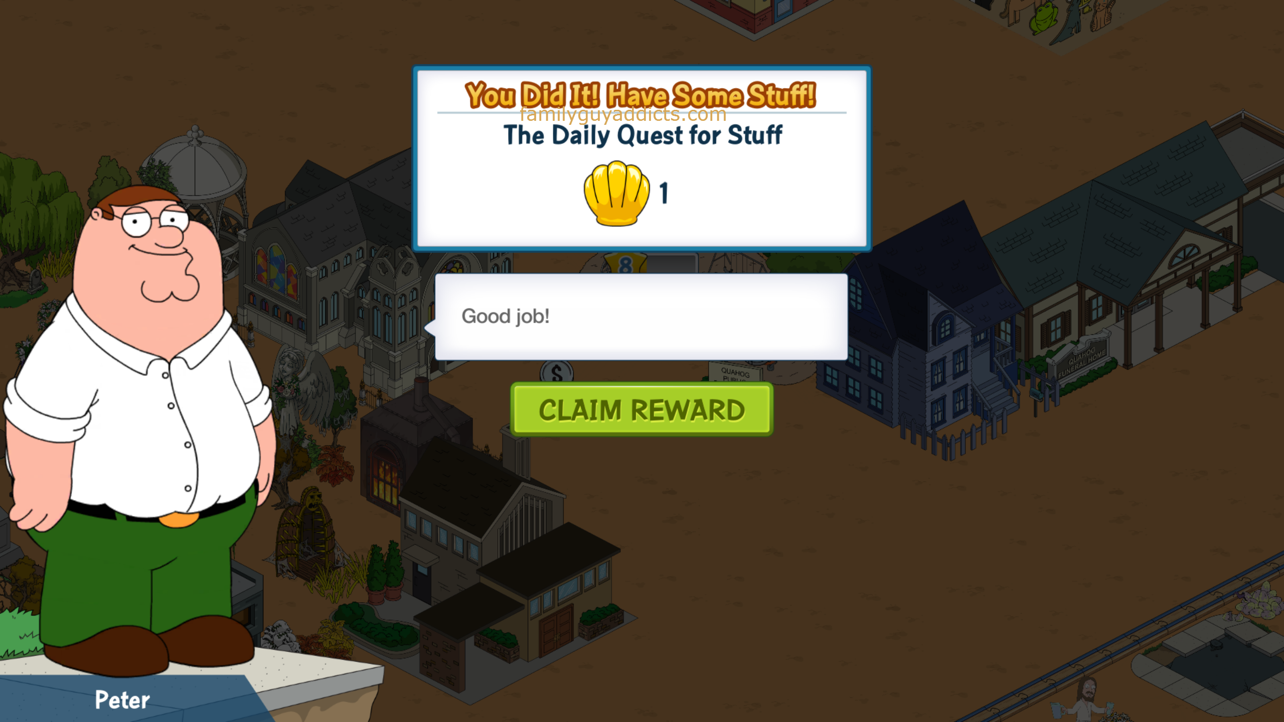 free clams family guy quest for stuff