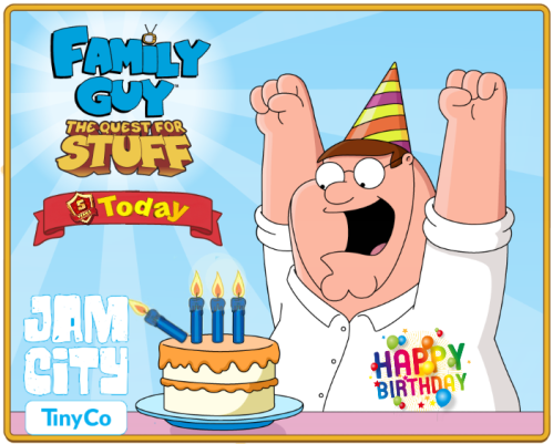 Miraculous Happy 5Th Birthday Family Guy Addicts Funny Birthday Cards Online Alyptdamsfinfo